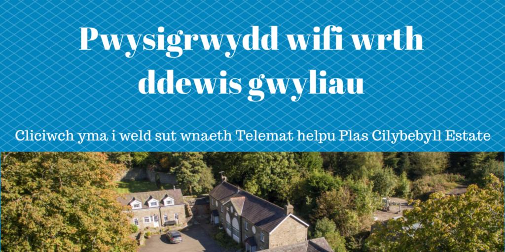 Cliciwch yma i weld sut wnaeth Telemat helpu Plas Cilybebyll Estate